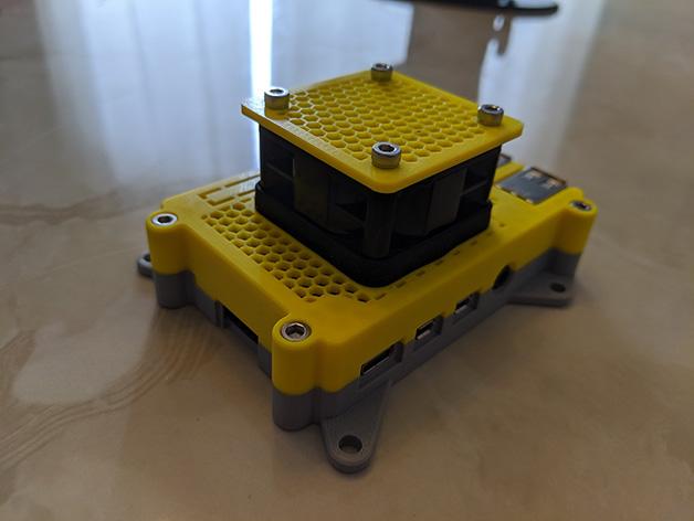 02.JPG Télécharger fichier STL gratuit Étui Pi 4B Framboise Framboise • Objet pour imprimante 3D, mkellsy