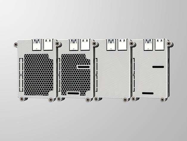 RPI4-6.png Télécharger fichier STL gratuit Étui Pi 4B Framboise Framboise • Objet pour imprimante 3D, mkellsy