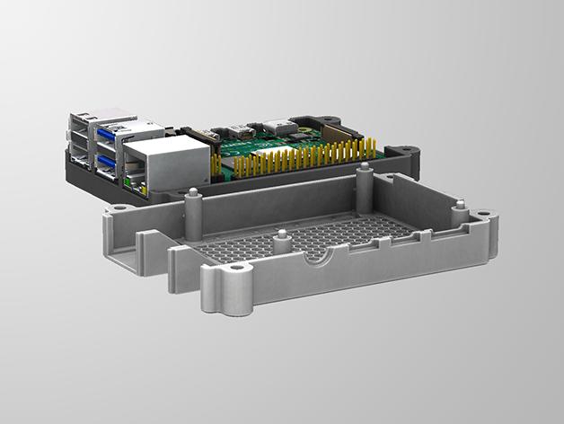RPI4-4.png Télécharger fichier STL gratuit Étui Pi 4B Framboise Framboise • Objet pour imprimante 3D, mkellsy