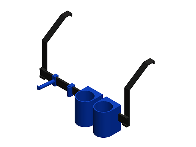 RENDER.PNG Download free STL file Dremel 3D45 Tool Caddy • 3D print model, mkellsy