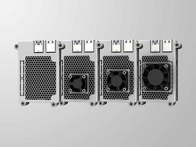 RPI4-8.png Télécharger fichier STL gratuit Étui Pi 4B Framboise Framboise • Objet pour imprimante 3D, mkellsy