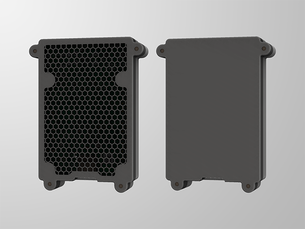 RPI4-5.png Télécharger fichier STL gratuit Étui Pi 4B Framboise Framboise • Objet pour imprimante 3D, mkellsy