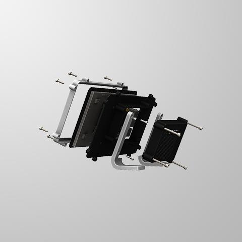 RTS-4.PNG Télécharger fichier STL gratuit Raspberry Pi Étui officiel pour écran tactile Raspberry Pi • Modèle pour imprimante 3D, mkellsy