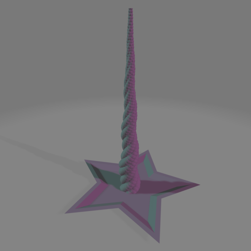 unicorn_horn_tray.png Download free STL file Unicorn Horn Hair Tie Holder • 3D printable template, gient