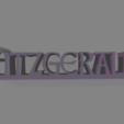 Fitzgerald_sign.png Download free STL file Fitzgerald Name Sign / Nameplate • 3D printer object, gient