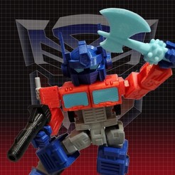 Optimus_Posed.jpg Download free 3MF file Optimus Prime Transformers - Print Optimized • 3D printing design, gient