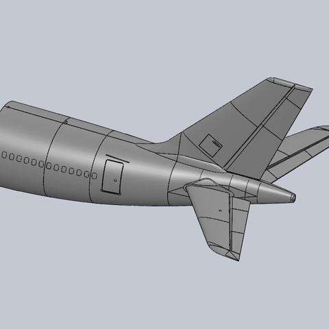 Descargar diseños 3D gratis 1/30 Escala A330-300 Sección de cola - RC EDF, DirtyDee