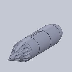 B-8M1.jpg Télécharger fichier STL gratuit Fusée B-8M1 à l'échelle 1/9e • Modèle pour imprimante 3D, DirtyDee