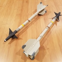 Free 3D model 1/10th Scale AIM-9 Sidewinder, DirtyDee