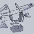 Download STL files Freewing A-10 Scale Cockpit Set, DirtyDee