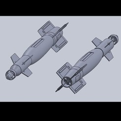 Download free 3D print files 1/10th Scale GBU-12 Paveway II, DirtyDee