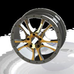 Download 3D printing designs Custom Car Rim, ariel-flores9