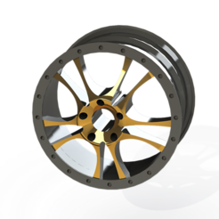 STL file Custom Car Rim, ariel-flores9