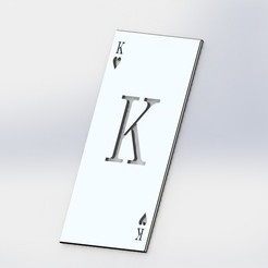 Download 3D printing files King poker card, ariel-flores9
