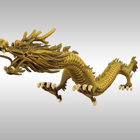 Descargar Modelos 3D para imprimir gratis dragón dorado 3d, savagequeen340