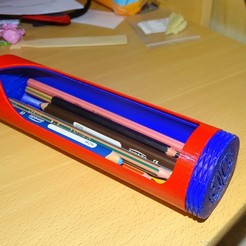 Download free 3D printing designs Pencil Case With A Twist, enguerrand
