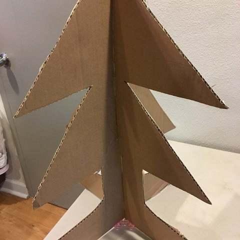 Free 3D printer model cardboard connector - 4 directions, shasha