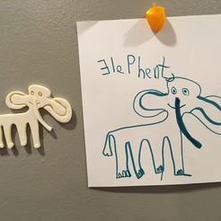 IMG_2919.JPG Télécharger fichier STL gratuit Éléphant Aimant pour réfrigérateur : Aimant incorporé • Modèle pour impression 3D, shasha