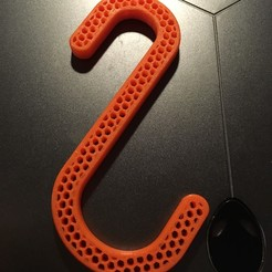 Descargar diseños 3D gratis Gancho en S con relleno de cono de miel, shasha