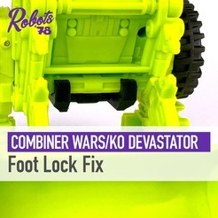 devastator-foot-lock-cults.jpg Download STL file CW/UW Devastator Foot Lock • 3D printable model, Robots78