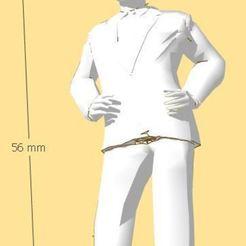 chef.JPG Download STL file STATIONMASTER - ERA I / II - SCALE 1:32 - GAUGE 1 • 3D printable template, serge_desmet