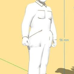 ch1.JPG Télécharger fichier STL CHAUFFEUR DE TRAIN (1) - EPOQUE I / II - ECHELLE 1:32 - GAUGE 1 • Objet imprimable en 3D, serge_desmet