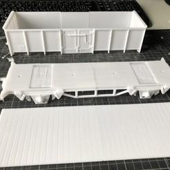 Download 3D printer files Dumper wagon SNCB 1/32 (origin MARKLIN scale 1), serge_desmet
