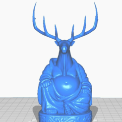 efront.png Download free STL file Elk Buddha (Animal Collection) • 3D print object, ToaKamate