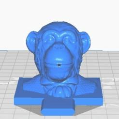 mifront.png Télécharger fichier STL gratuit Brûleur d'encens de singe (interchangeable) • Objet pour imprimante 3D, ToaKamate