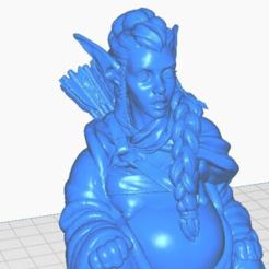 e-close.png Télécharger fichier STL gratuit Elfe féminin Archer Bouddha (Collection Mythologie) • Modèle à imprimer en 3D, ToaKamate