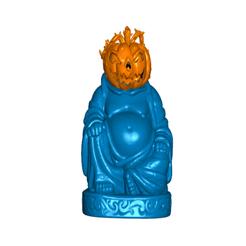 PBfront.png Download free STL file Halloweeen Pumpkin Buddha • 3D printer object, ToaKamate