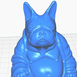 fbclose.png Télécharger fichier STL gratuit Bouledogue français Bouddha (Collection canine) • Plan à imprimer en 3D, ToaKamate
