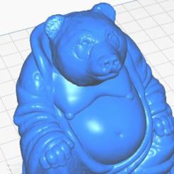 pclose.png Télécharger fichier STL gratuit Panda Bear Buddha (Collection d'animaux) • Modèle pour imprimante 3D, ToaKamate