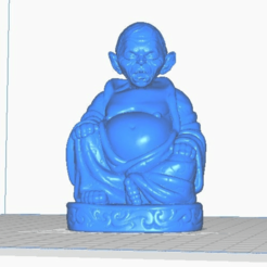 gollum-front.png Download free STL file Gollum Buddha (LOTR - TV / Movies Collection) • Object to 3D print, ToaKamate