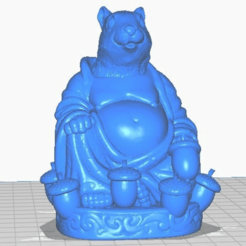 sfront.png Download free STL file Squirrel Buddha with Tail and Acorns (Animal Collection) • 3D printable template, ToaKamate