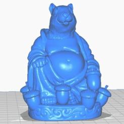 sfront.png Télécharger fichier STL gratuit Bouddha écureuil avec queue et glands (Collection d'animaux) • Objet pour imprimante 3D, ToaKamate
