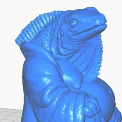 iclose.png Télécharger fichier STL gratuit Iguana Buddha (Collection d'animaux) • Plan pour impression 3D, ToaKamate