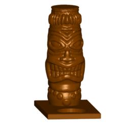 TCfront.png Télécharger fichier STL gratuit Porte-bougie Tiki Tealight • Design pour imprimante 3D, ToaKamate