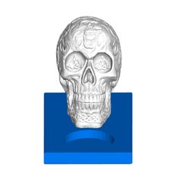 ctlfront.png Télécharger fichier STL gratuit Porte-bougie à réchaud Crâne Celtique • Modèle pour imprimante 3D, ToaKamate