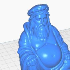leanardo-close.png Download free STL file Leonardo DaVinci Buddha (Famous People Collection) • 3D printable model, ToaKamate