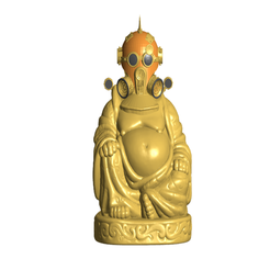 SPfront.png Download free STL file Steampunk Buddha • 3D printable design, ToaKamate