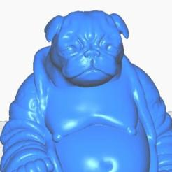pclose.png Télécharger fichier STL gratuit Pug Buddha (Collection canine) • Objet à imprimer en 3D, ToaKamate