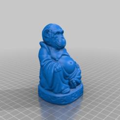 5a4cb6b6ebe092ceddfbd8f5a3a5b521.png Télécharger fichier STL gratuit Bouddha singe (FIXE) (Collection d'animaux) • Design pour imprimante 3D, ToaKamate
