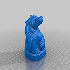 Hippo-Buddha.png Télécharger fichier STL gratuit Hippo Buddha (Collection d'animaux) • Modèle à imprimer en 3D, ToaKamate