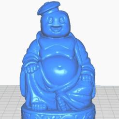 sfront.png Télécharger fichier STL gratuit Stay Puft Buddha (Ghostbusters - Collection TV / Cinéma) • Objet pour impression 3D, ToaKamate