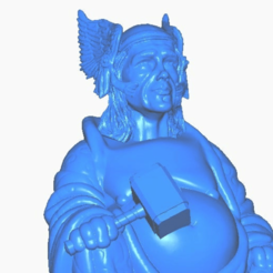 tclose.png Download free STL file Thor Buddha w/ Hammer (Marvel Collection) • 3D printing object, ToaKamate