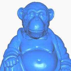 mclose.png Télécharger fichier STL gratuit Singe (Chimpanzé) Bouddha (Collection d'animaux) • Objet à imprimer en 3D, ToaKamate