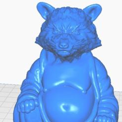 rclsoe.png Télécharger fichier STL gratuit Bouddha du raton laveur en colère (Collection d'animaux) • Modèle pour imprimante 3D, ToaKamate