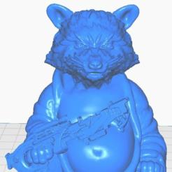 rclose.png Télécharger fichier STL gratuit Fusée raton laveur (V2) Bouddha avec fusil (Collection Marvel) • Plan pour impression 3D, ToaKamate