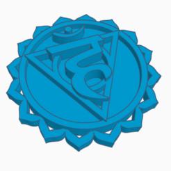 chakra 5.png Download STL file Neck Chakra - Vishuddha • 3D print model, bressanreinhard